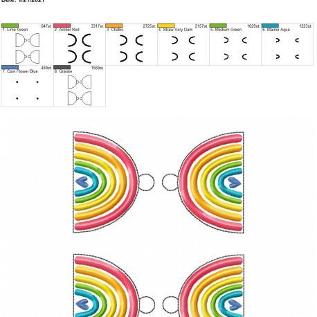 boho rainbow heart eyelet 5×7 grouped