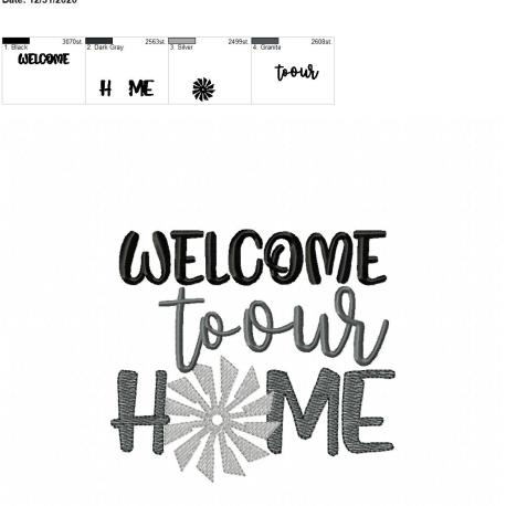 welcome to our home 5×7