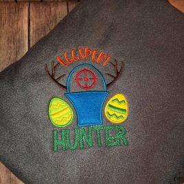 Eggspert Hunter – 2 sizes- Digital Embroidery Design