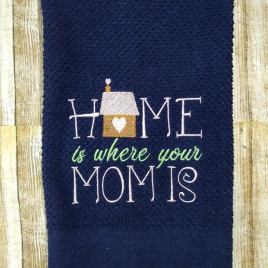 Home is Where your Mom is- 2 sizes- Digital Embroidery Design