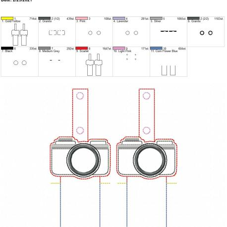 Applique Camera Lip Balm holder 5×7 grouped