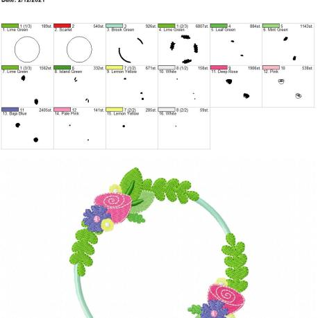 Floral Applique 5×7