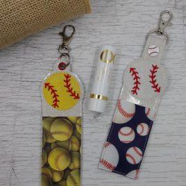 Baseball Lip Balm Holders 5×7 – DIGITAL Embroidery DESIGN