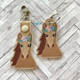 Floral Horse Fobs – DIGITAL Embroidery DESIGN
