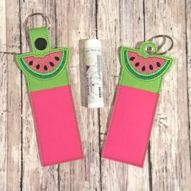 Watermelon Lip Balm Holders 5×7 – DIGITAL Embroidery DESIGN\