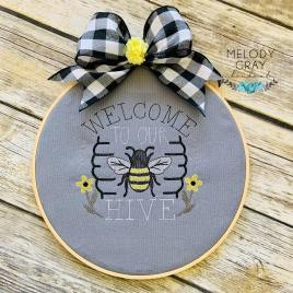 Welcome to our Hive – 4 sizes- Digital Embroidery Design
