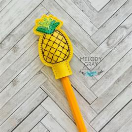 Pineapple Pencil Toppers 4×4 and 5×7 included- DIGITAL Embroidery DESIGN