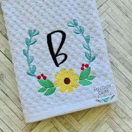 Flower Frame – 3 sizes- Digital Embroidery Design
