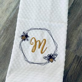 Bee Frame #1 – 4 sizes- Digital Embroidery Design