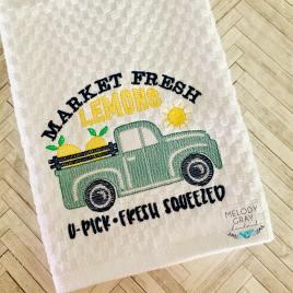Market Fresh Lemons – 3 sizes- Digital Embroidery Design