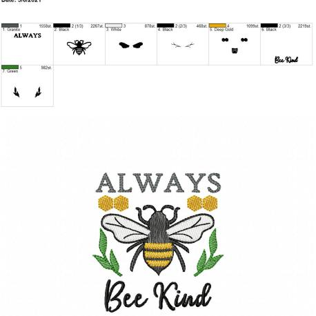 Always Bee Kind 4×4