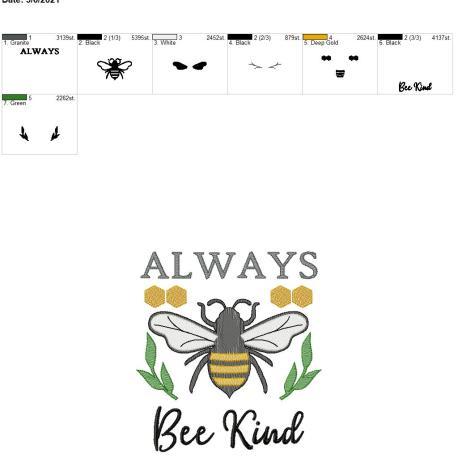 Always Bee Kind 8×12