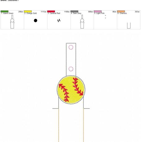 Baseball lip balm holder 5×7