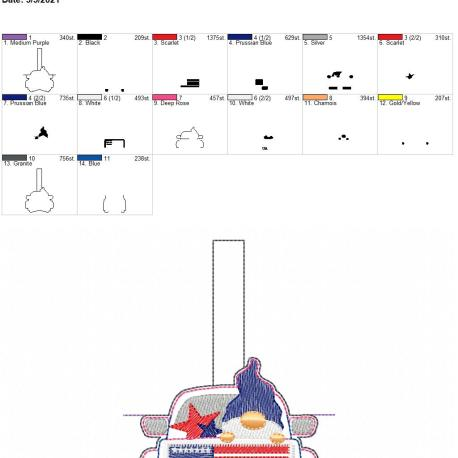Gnome Truck USA Sanitizer Holder 5×7
