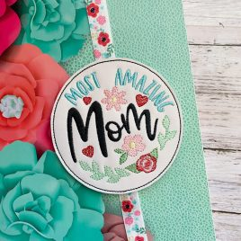 Most Amazing Mom Book Band – Embroidery Design, Digital File