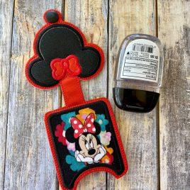 Miss Mouse Applique Fold Over Sanitizer Holder 5×7- DIGITAL Embroidery DESIGN