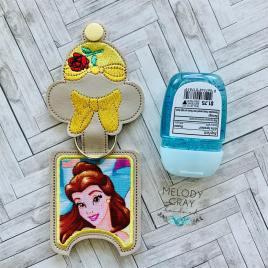 Beauty Princess Applique Fold Over Sanitizer Holder 5×7- DIGITAL Embroidery DESIGN
