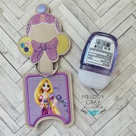 Long Hair Princess Applique Fold Over Sanitizer Holder 5×7- DIGITAL Embroidery DESIGN