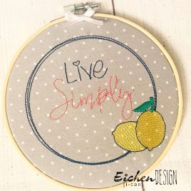 Live Simply – 4 sizes- Digital Embroidery Design