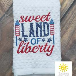 Sweet Land of Liberty – 4 sizes- Digital Embroidery Design