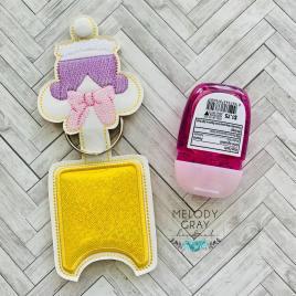 Girl Duck Applique Fold Over Sanitizer Holder 5×7- DIGITAL Embroidery DESIGN