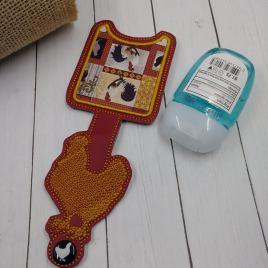 Chicken Applique Fold Over Sanitizer Holder 5×7- DIGITAL Embroidery DESIGN