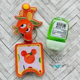 Orange Bird Applique Fold Over Sanitizer Holder 5×7- DIGITAL Embroidery DESIGN