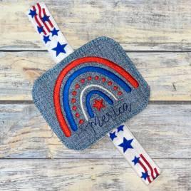 Merica Book Band – Embroidery Design, Digital File