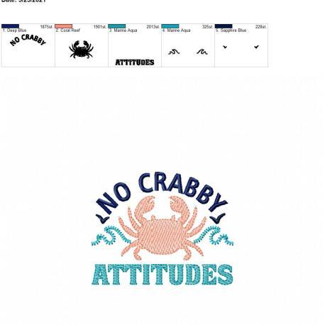 No Crabby Attitudes 4×4