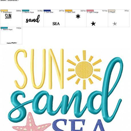 Sun Sand Sea 8×12