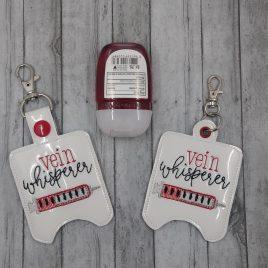 Vein Whisperer Sanitizer Holders 5×7- DIGITAL Embroidery DESIGN