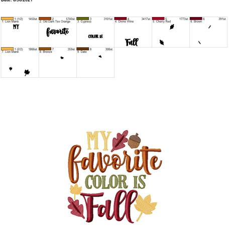 Favorite color is fall 8×12