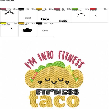 Fitness Tacos 5×7