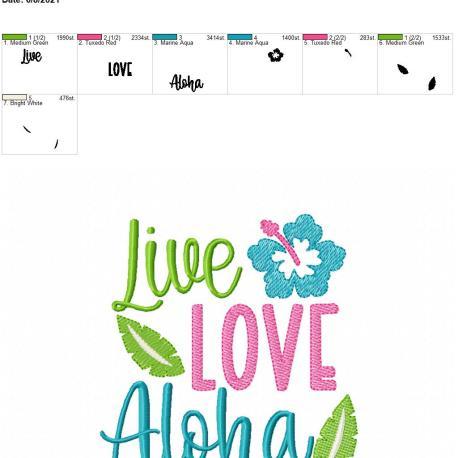 Live Love Aloha 5×7