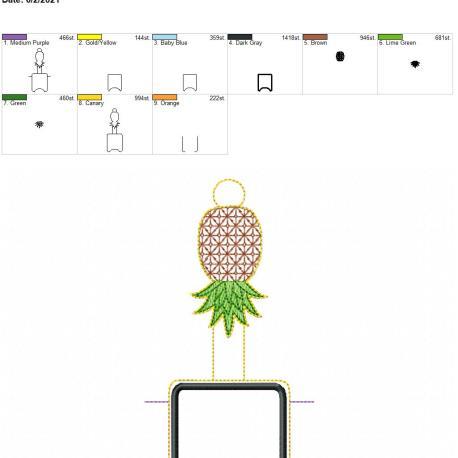 Pineapple AFOSH 5×7
