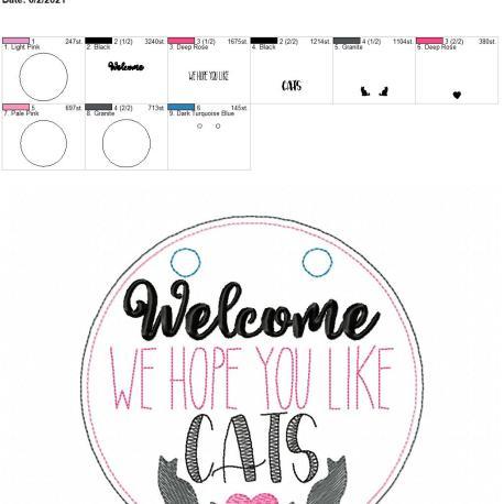 Welcome We Hope you like cats door sign 6×10