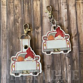 Gnome Fall Truck Fobs – DIGITAL Embroidery DESIGN