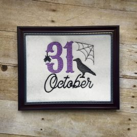 31 October – 4 sizes- Digital Embroidery Design