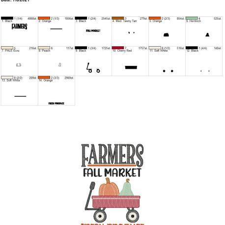 Farmers Fall Market 5×7