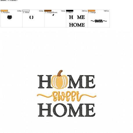 Home Sweet Home Pumpkin 4×4