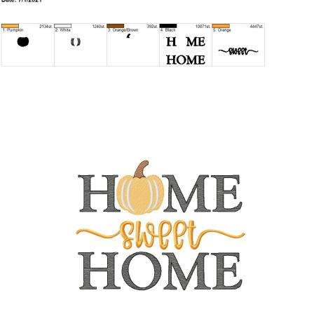 Home Sweet Home Pumpkin 8×12