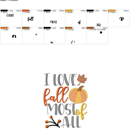 I love fall most of all 6×10