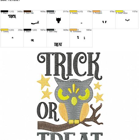 Trick or Treat 5×7