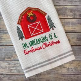 Farmhouse Christmas – 3 sizes- Digital Embroidery Design