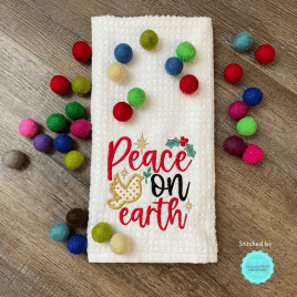 Peace on Earth – 4 sizes- Digital Embroidery Design