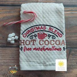 Hot Cocoa – 3 sizes- Digital Embroidery Design