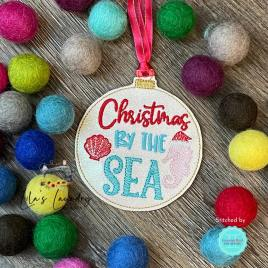 Christmas by the Sea Ornament – Digital Embroidery Design