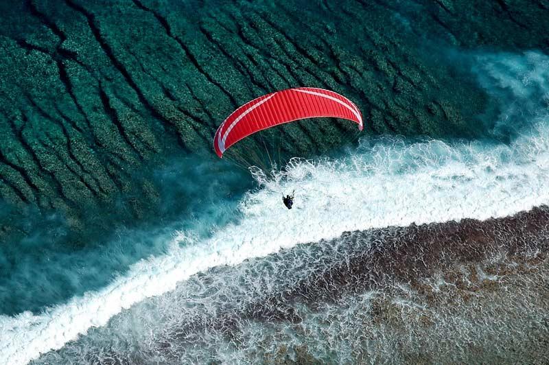 Activités : parapente à la Réunion