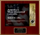 "Named one of ""America's Most Honored Lawyers"""