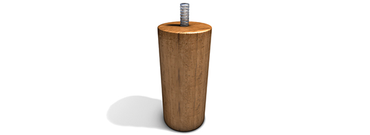 Zylinder Holz Hell